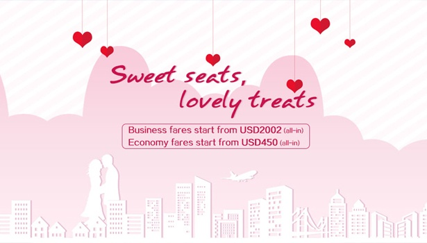 China Southern Airlines khuyến mãi Valentine 2018